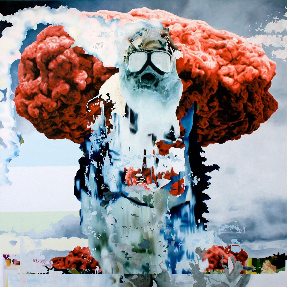 Atomic bom painted by Roberto López