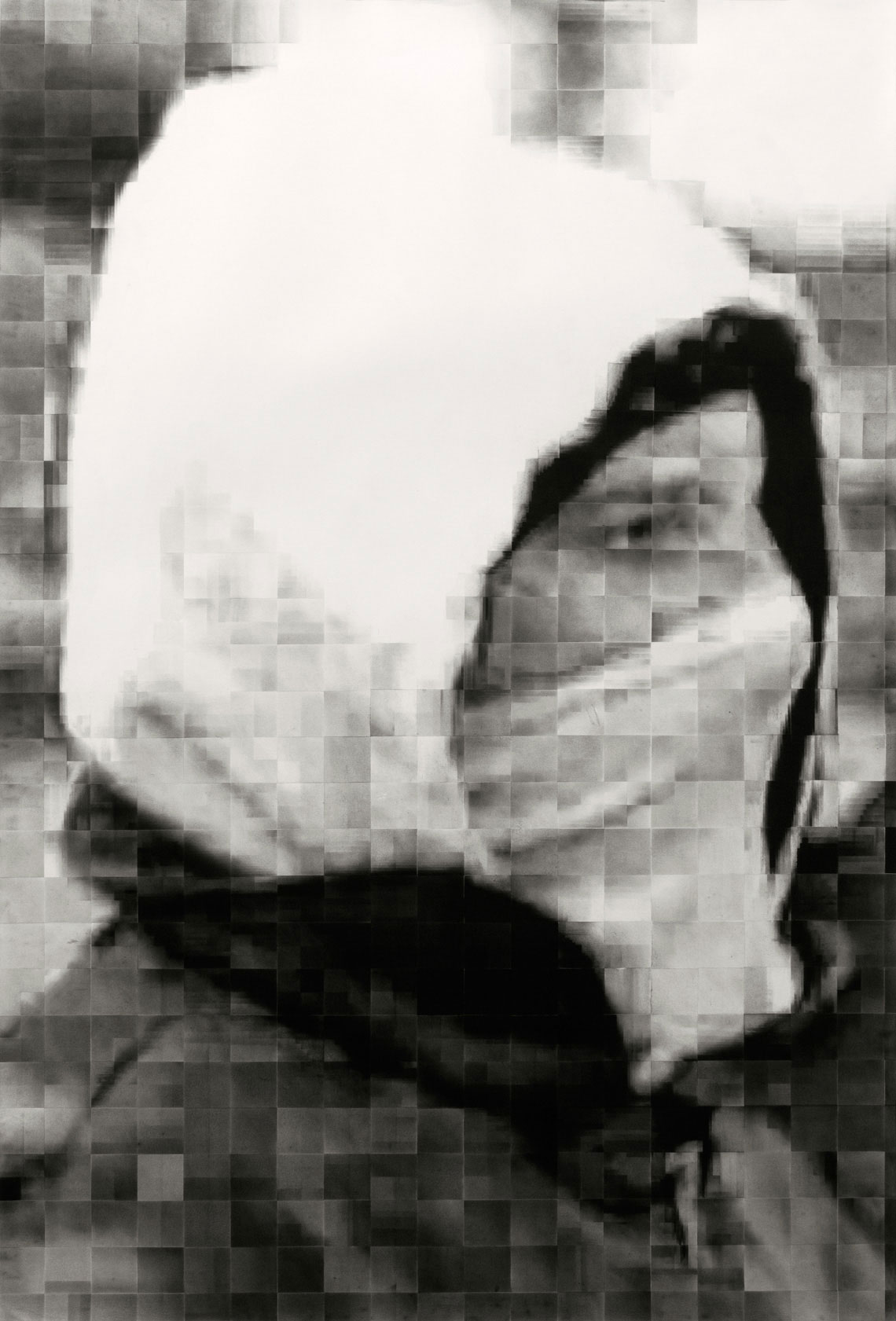 Face of a rioter drawn by Roberto López