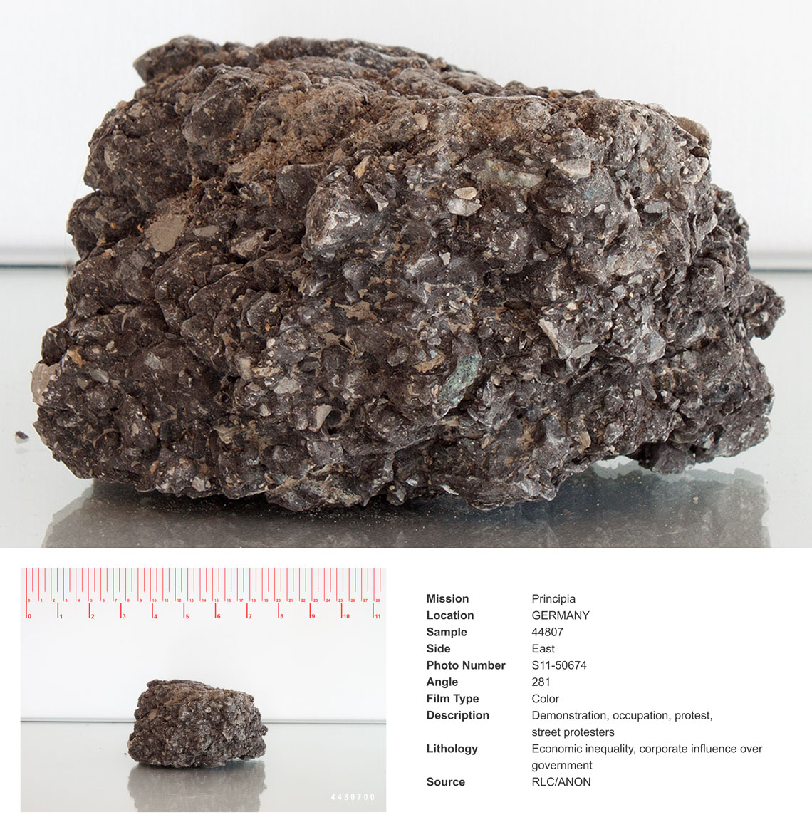 Documented rock of the earth