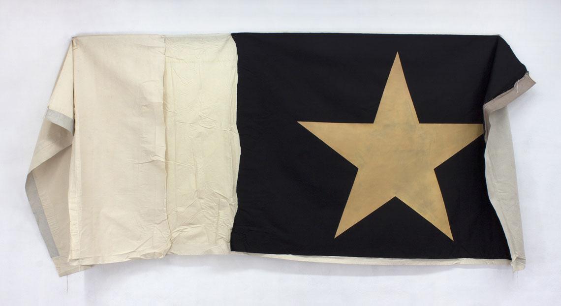 orange star on a flag