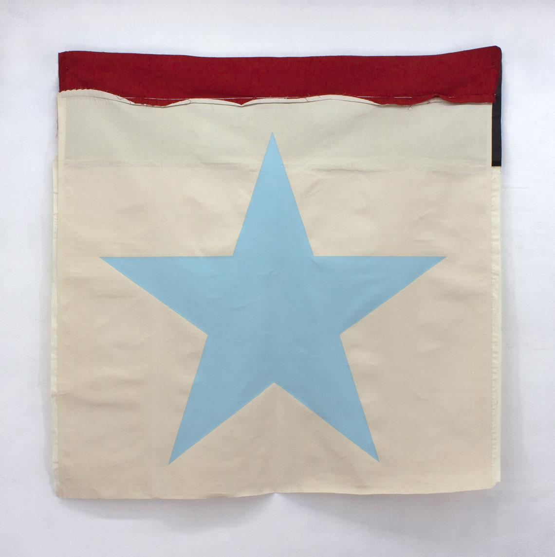 Blue star on a flag