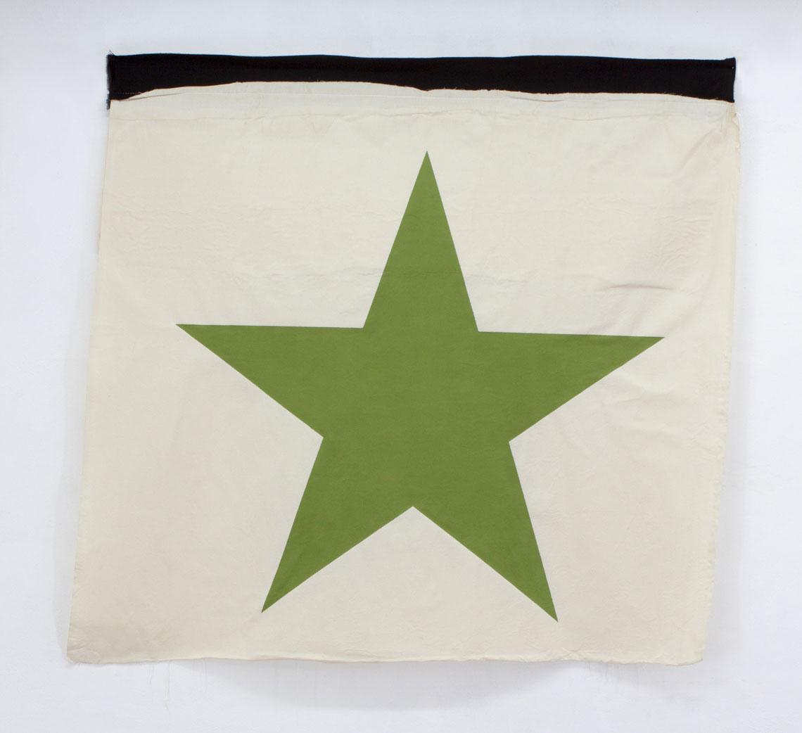 green star on a flag