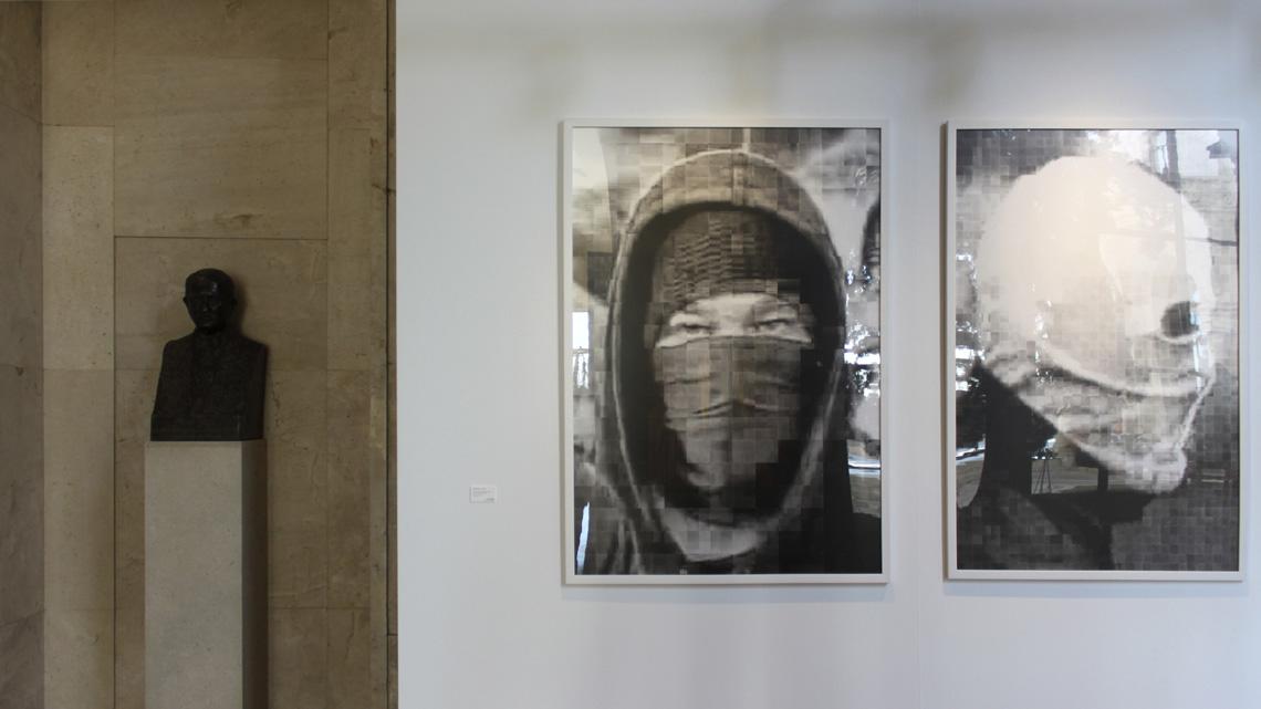 exhibition rioter faces